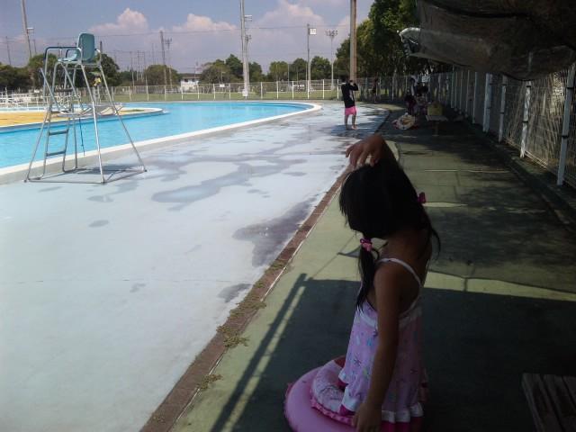 夏休み最後のプール